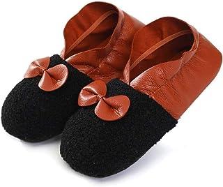 AQWESD, AQWESD Invierno Lindo Damas Pantuflas Calcetines con Forro súper Suave y Antideslizante Zapatos de casa Antideslizantes Suaves y cálidos Calcetines Interiores para Mujeres B Piso
