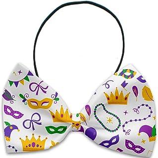 Mardi Gras Masks Dog Bow tie