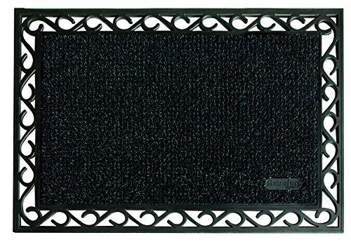 AstroTurf Utopia Mamut Felpudo Alfombra de Entrada Exterior, 60 x 90 cm, Color Negro, Goma & Polietileno, 90x60x1 cm
