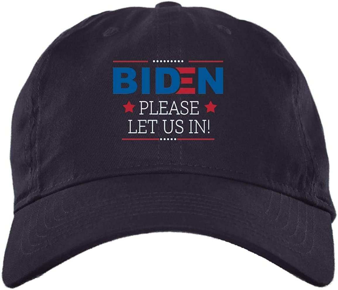 Biden Please Let Us in Twill In a popularity Cap Omaha Mall - Snapback High-Profile Hat
