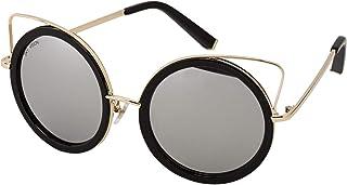 Sky Vision Panto Sunglasses for Women, Black Lens, J9863