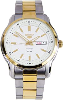 SEIKO Mens Automatic Watch, Analog Display and Stainless Steel Strap SNKP14J1
