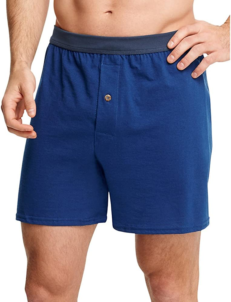 Hanes Tagless ComfortSoft Knit Boxer with Comfort Flex Waistband (548BX5)