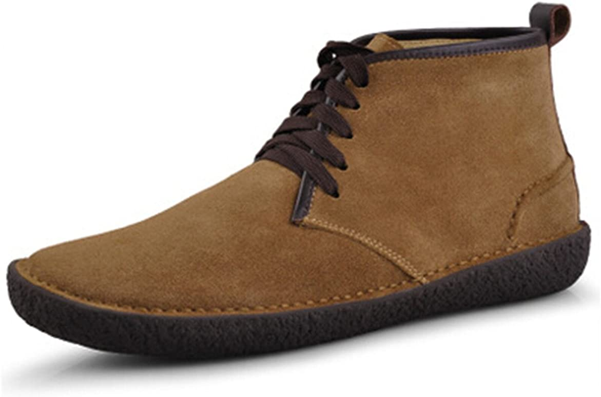HAPPYSHOP New sales TM Winter Suede Leather Wool Classic Men's Chuk Bended Max 84% OFF