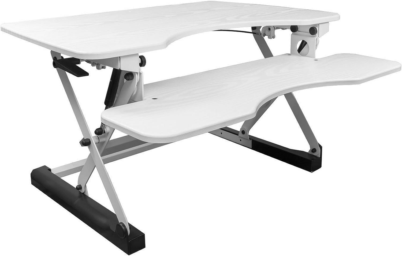 NEG Computertisch ExtenDesk 100W (91,5cm breit) Sitz- Steh-Arbeitsplatz wei