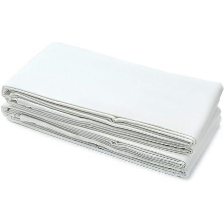 Amazinggirl Drap Plat Blanc 160 x 250 cm - Draps de lit, sans Bande élastique, Qualité Hôtelière, Doux et Respirant Couverture 125 g/m²