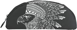 TIZORAX Zentangle Elegante cabeza de águila en plumas