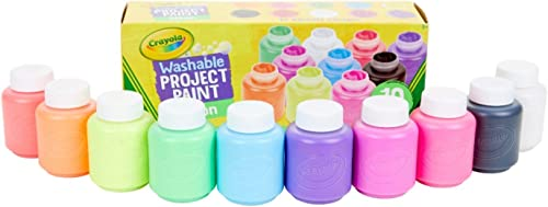 CRAYOLA 54-2390 Washable Neon Paint, Art Tools, 10 Bright Colours, Children Art & Craft, projects, artist, students, ...