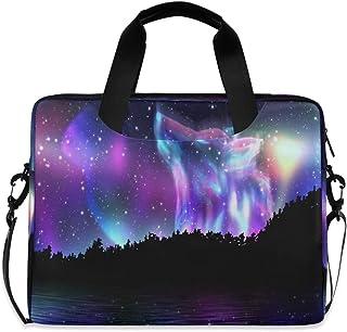 AUUXVA Laptop Bag Case 13 14 15.6 inch Animal Wild Galaxy Wolf Print Laptop Briefcase Messenger Bag Computer Case Shoulder...