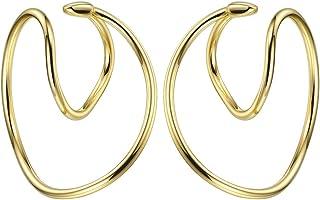 EF ENFASHION Geometric Heart Line Ear Cuffs Gold Earring Ear Clip on Earrings for Women