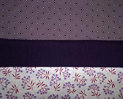 Stoffpaket für Dirndlkleid violett/weiß geblümt