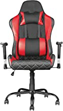 Racoor Video Gaming Chair, Black and Red - 133H x 70W x 66D cm