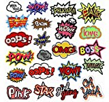22 piezas Patch Sticker, Parches Ropa Termoadhesivos, Parches ropa, DIY Coser o...