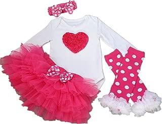 Baby Girl 1st Christmas Tutu Outfit Newborn Princess Party Dress 4PCs