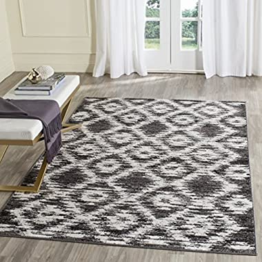 Safavieh Adirondack Collection ADR118R Charcoal and Ivory Modern Geometric Area Rug (8' x 10')