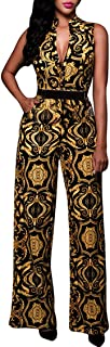 Womens Button Up Printed Long Wide Leg Pant Party...