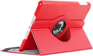 ebestStar - Compatible Coque iPad Mini 1/2/3 Apple Housse Protection Etui PU Cuir Support Rotatif 360, Rouge [Appareil: 200 x 134.7 x 7.2/7.5mm, 7.9'']