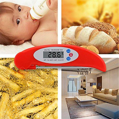 Voedsel Thermometer sondes kunnen worden gevouwen in een keuken voedsel Thermometer, De watermeter, De olie Temperatuur Gauge, Vlees Thermometer, En Instant Lezen Thermometer.