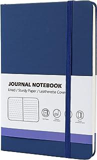 OLAI A5 Lined Journal Notebook ، 192 صفحه ، نوت بوک گالینگور با جلد چرم ، یک بازی عالی برای دفتر ، مدرسه ، ژورنال ، حمل و نقل و غیره (آبی ، 192 صفحه)