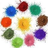 MOSUO Seifenfarbe Set, 20g*10 Farben Epoxidharz Farbe Mica Pigmente Pulver, Metallic Pigment...