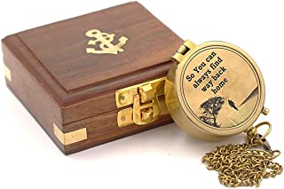 Roorkee Instruments India Engraved Compass, Mens Gifts, Gifts for Men, Birthday, for Husband, Wedding Gifts