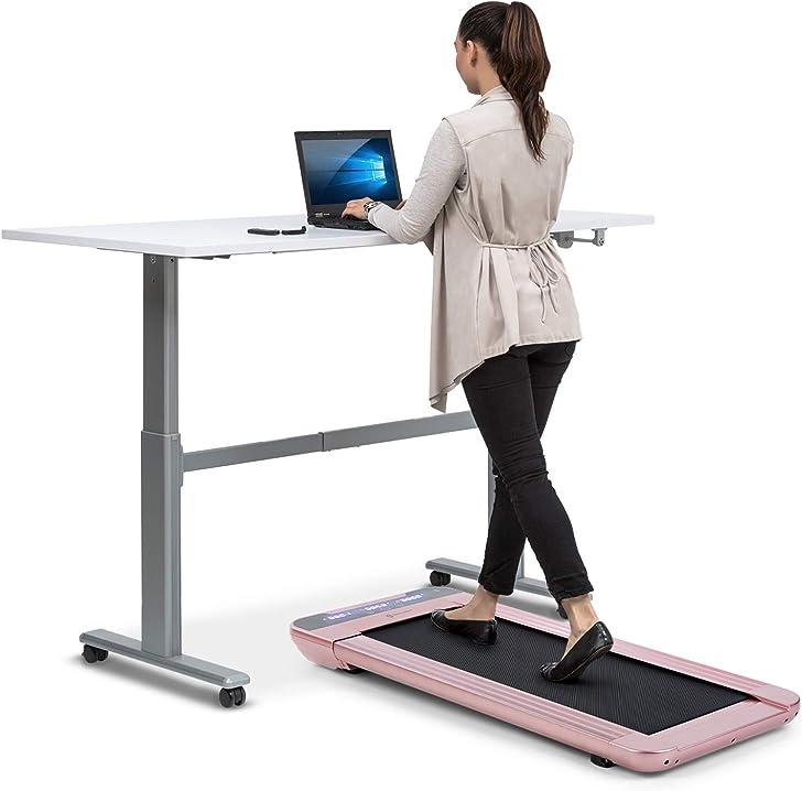 tapis roulant da ufficio, 350 watt, velocitá da 0.8-6 km/h, 11 cm di altezza capital sports workspace go vpt2-90300-fzuq
