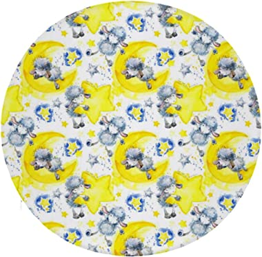 NAWING Cute Sheep Star Round Floor Cushions Pillow Comfortable Soft Polyester Lightweight Adult Relaxing Your Hips Decorative