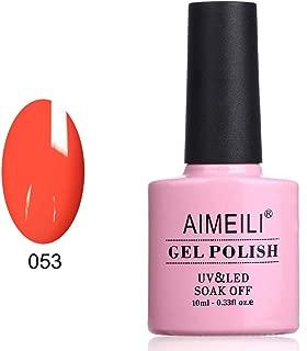 AIMEILI Soak Off UV LED Gel Nail Polish - Neon Orange Zest (053) 10ml