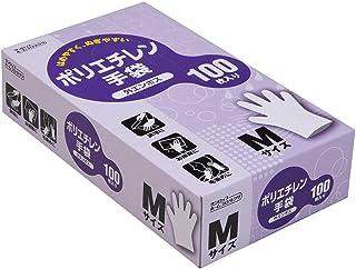 ダンロップ ホームプロダクツ ポリエチレン手袋 使い捨て エンボス クリア M 手軽に使えて着脱もラクラク 食品衛生法適合 100枚入
