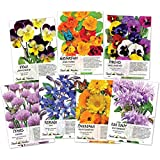 Seed Needs, Edible Wildflower Seed Packet Collection (7 Individual Packets) Non-GMO Seeds