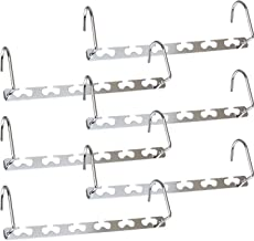 "6 Packs Metal Magic Hangers -Auma10.5""Space Saving Hangers, Metal Closet Clothing Hanger Oragnizers, Updated Hook Design S..."