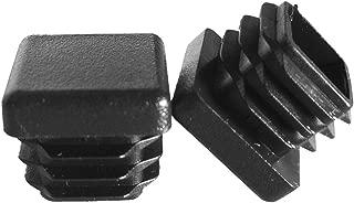 Prescott Plastics 10 Pack: 3/4 Inch Square Plastic Plug, Tubing End Cap, Durable Chair Glide