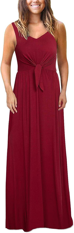 Kranda List price Women's online shop Sleeveless V Neck Knotted Tank Solid Front Color