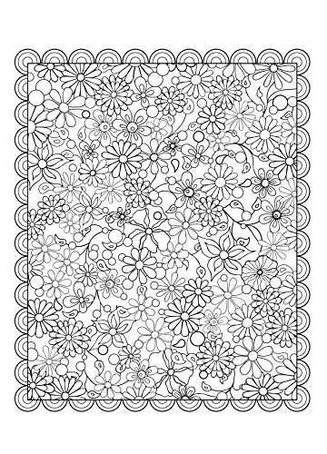 花のコロリアージュフラワーデザインぬり絵ブック