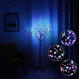 WED 152LED Peach Blossem LED Tree Light, Cherry Blossem LED Tree Light 5Ft Floor Lamp for Home Party Indoor and Outdoor Christmas Decoration