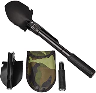 Military Folding Shovel Multipurpose Tool for Outdoor Survival Portable with Carrying Pouch Camping Outdoor Tools