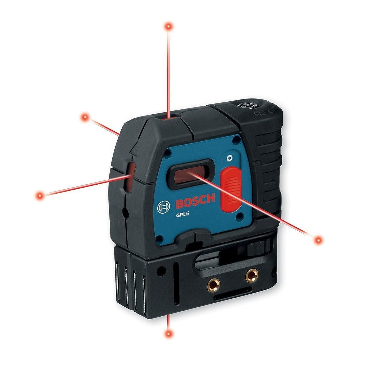 母音メイン扇動する[ボッシュ] Bosch GPL5レーザーレベル 5方向ポインタレーザー