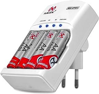 Carregador De Pilhas Aa Aaa 2600mah Recarregáveis Bateria 9v