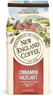 New England Coffee Cinnamon Hazelnut, Medium Roast Ground Coffee, 11 Ounce (1 Count) Bag