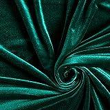 Fabulous Fabrics Samt Stretch Edel grün — Meterware ab