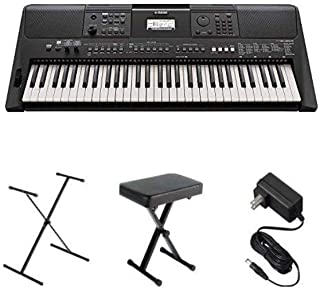 Yamaha PSR-E463 Portable Keyboard Bundle with Stand, Bench a