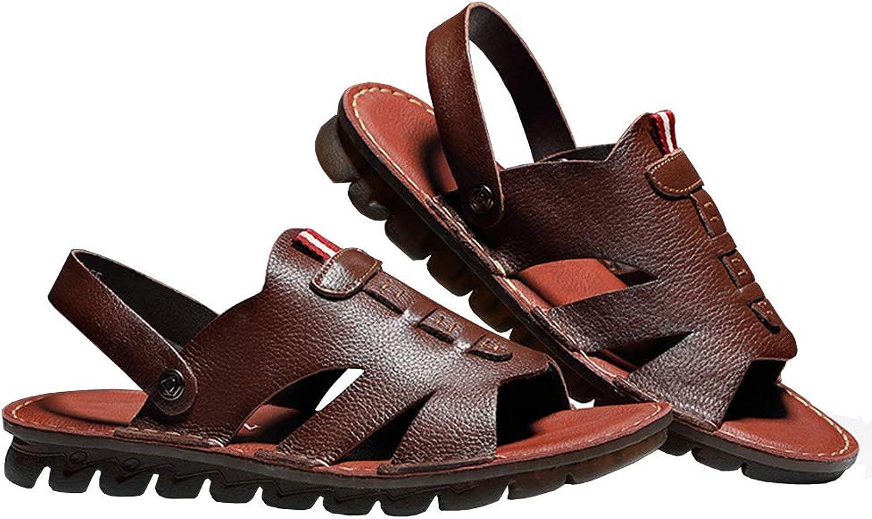 Athletic Sandals utomhus sommar Man Läther Hiking strand skor Andbar Andbar Andbar Exponerad Toe No -Slip Flip Flops  underbar