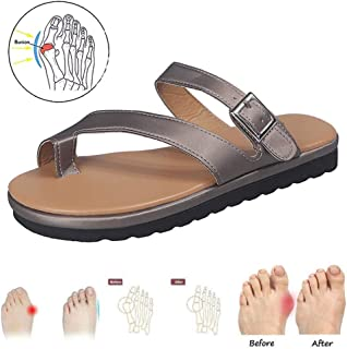 Big Toe Bone Correction Sandals for Women Bunion Valgus Orthopedic Slippers with Arch Support Open Toe Non-Slip Shoe for S...