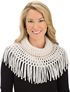 Soft Knit Infinity Scarf With Tasseled Fringe - Dress Up Any Outfit With This Warm Accent