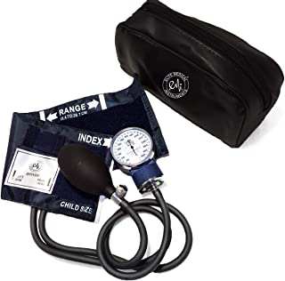 EMI Pediatric Aneroid Sphygmomanometer Blood Pressure Monitor with CHILD Sized Cuff and Carrying Case EBC-215