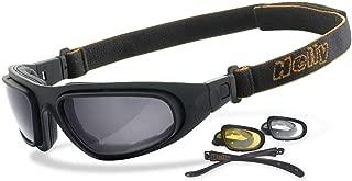 <h2>Helly - No.1 Bikereyes | beschlagfrei, winddicht, nachtsicht HLT Kunststoff-Sicherheitsglas nach DIN EN 166 | Bikerbrille, Motorradbrille, Multifunktionsbrille | Brillengestell: schwarz</h2>