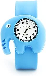 Lovely Quality Fashion Animal Silicone Slap Snap On Wrist Watch Elephant
