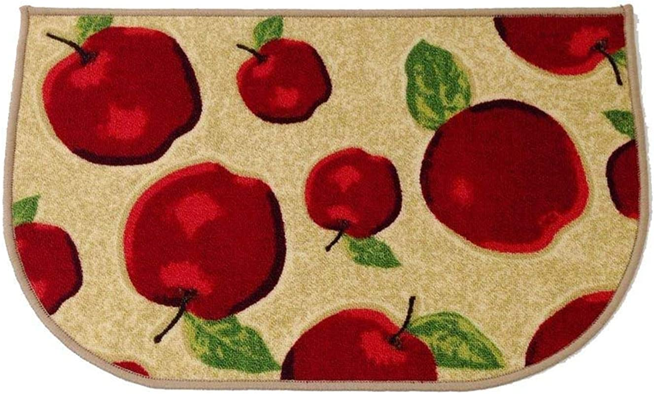 HIGOGOGO Red Apple Kitchen Area Rugs Mats D Ring Non Slip Rubber Backing Floor Rug And Carpet Kitchen Room Decor Machine Washable Bathroom Rugs Doormat Foot Pads 20 X30