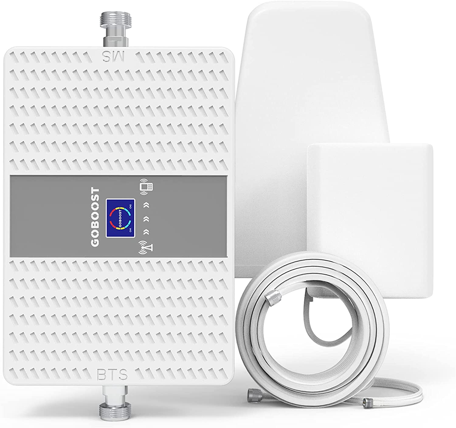 Goboost Cell Phone Signal Booster for Home and Office 3G 4G LTE Band 4 Band 5 850MHz 1700/2100MHz Cell Signal Amplifier Repeater with Antenna Kit for AT&T Verizon T-Mobile US Cellular | FCC Approved