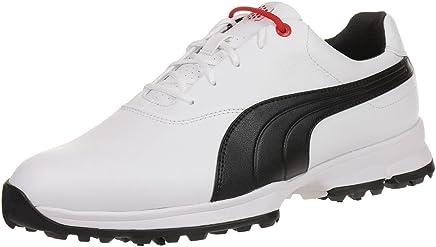 8dcf60f971fef Puma Golf Ace Leather Men Golfschuhe Golf 188658 01 white